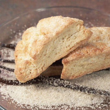 "Host an Afternoon ""Low Tea"" Party, individual-recipe-vanilla-sugar-crusted-scones"