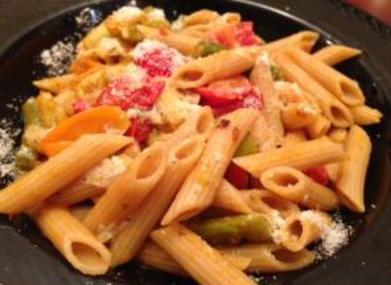 "Fresh Tomato ""Sauce"", Reinterpreted For Late Summer, pasta, basil, the three tomatoes,"