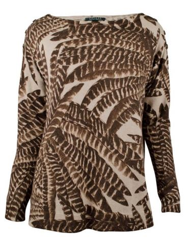 Sweaters:  Warm, Cozy, Comfy and Trendy too!, ralph lauren feater print boatneck