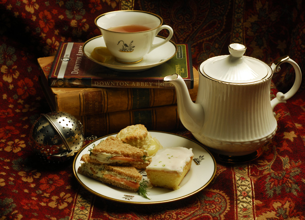 "Host an Afternoon ""Low Tea"" Party, tea, scones, recipe, the three tomatoes,"