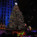 A Perfect Holiday Day in New York City, tree at Rockefeller Center