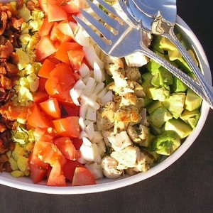 brown derby cobb salad, arthur schwartz, the three tomatoes
