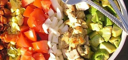 cobb salad recipe, arthur schwartz, the three tomatoes