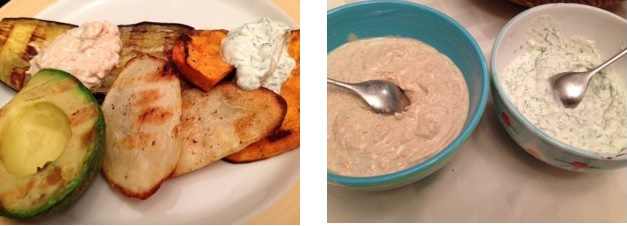 Grilled Vegetables & Dipping Tzatziki, deborah goldstein, recipies, the three tomatoes
