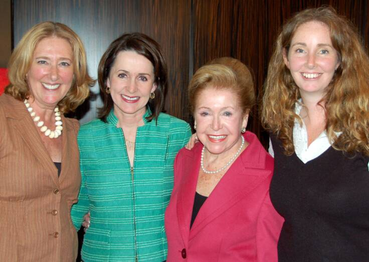 Cocktails and Conversations with Mary and Carol Higgins Clark, cheryl benton, carol higgens clark, mary higgens clar, roni jenkins, the three tomatoes