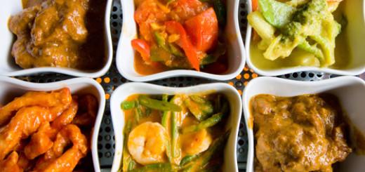 bali nusha indah rice table, indonesian food, susan sez, the three tomatoes