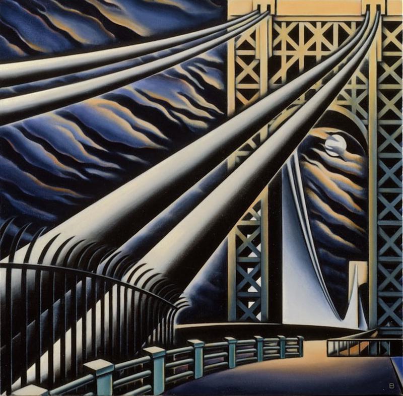 BASCOVE / BRIDGES Transporting the Metropolis , George Washington Bridge, Bascove, NYC art galleries, the three tomatoes