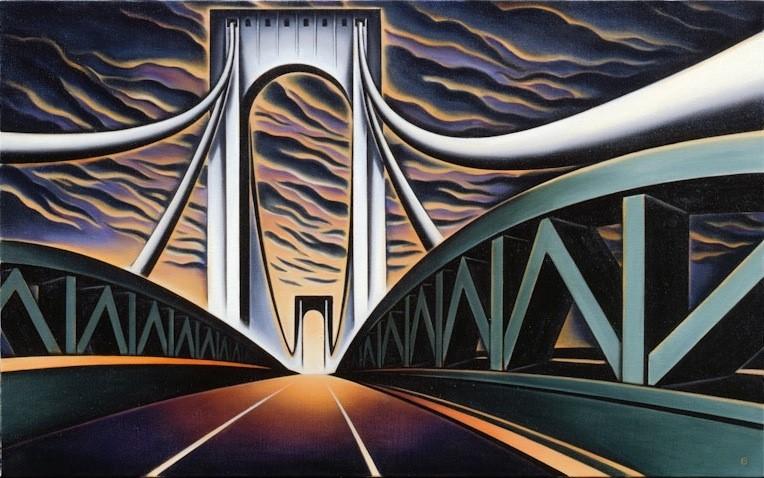 BASCOVE / BRIDGES Transporting the Metropolis , bronx whitestone bridge, bascove, nyc art galleries, the three tomatoes