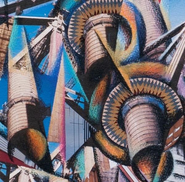 BASCOVE / BRIDGES Transporting the Metropolis , queensborough bridge, bascove, art galleries nyc, the three tomatoes