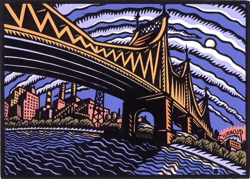 BASCOVE / BRIDGES Transporting the Metropolis , Queensborough bridge, bascove, nyc art galleries, the three tomatoes