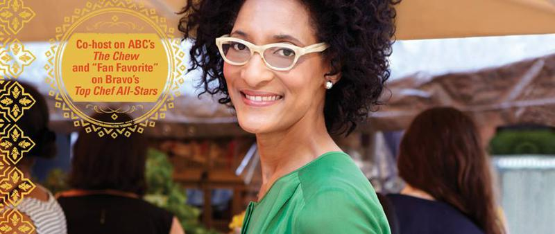 Some foodie news!, carla hall, the chew, valerie smaldone podcast, the three tomatoes