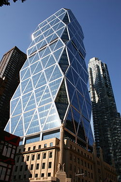 hearst tower nyc, nyc architecture, the three tomatoes