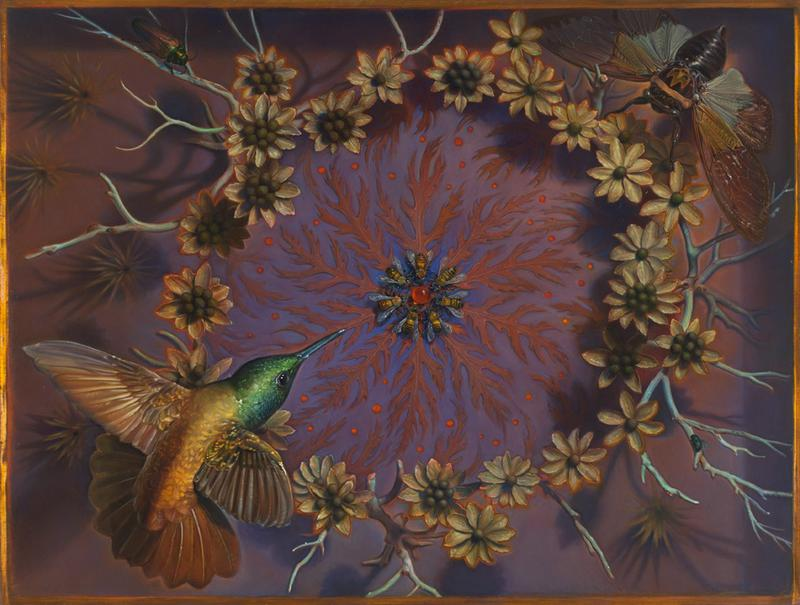 KEVIN KING : Fall of a Sparrow, kevin king bees, bascove, nyc art galleries, the three tomatoes
