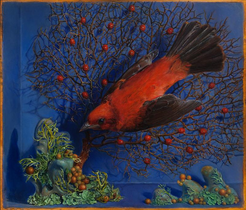 KEVIN KING : Fall of a Sparrow, kevin king lady bugs, bascove, nyc art galleries, the three tomatoes
