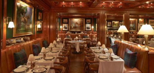 the polo bar, ralph lauren, gael greene restaurant review, the three tomatoes