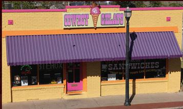 AMARILLO, TEXAS, cowboy gelato restaurant, driving diva, gerry davis, the three tomatoes