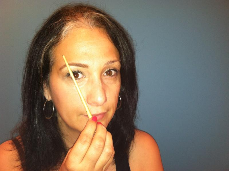 How to Shape Your Own Eyebrows, step 5 eyebrow shaping, the three tomatoes