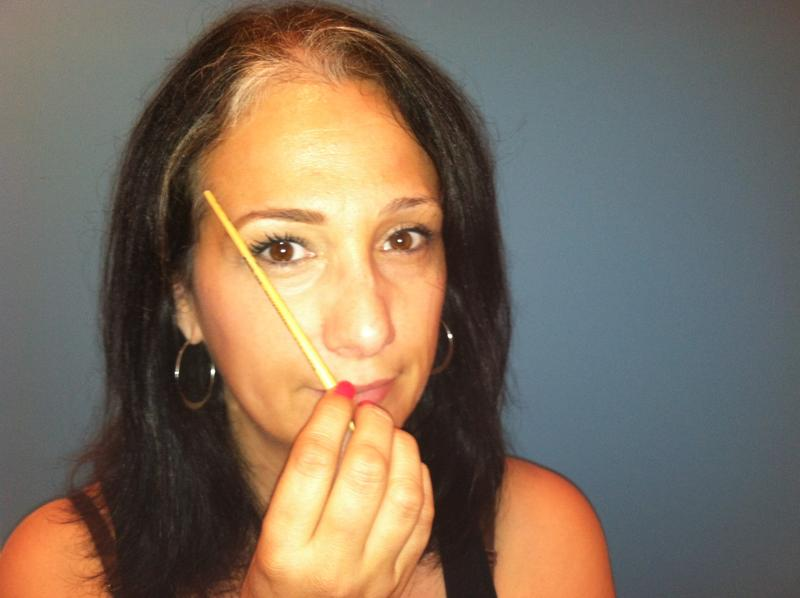 How to Shape Your Own Eyebrows, step 6 eyebrow shaping, the three tomatoes