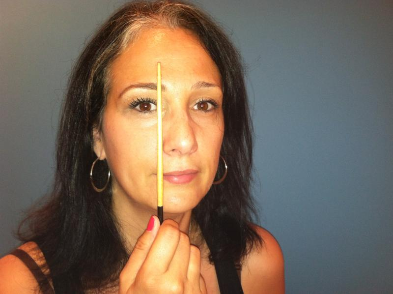 How to Shape Your Own Eyebrows, step 3 eyebrow shaping, the three tomatoes