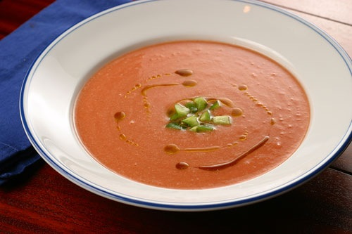 Gazpacho recipe from spain, the three tomatoes
