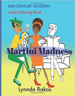 martini madness, coloring books, the three tomatoes