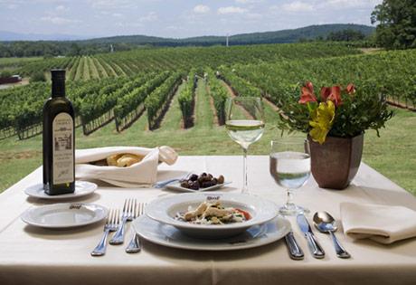 Barboursville Vineyards, driving diva, gerry davis, the three tomatoes, palladio restaurant