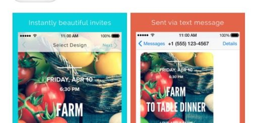 text invites, technology, the three tomatoes