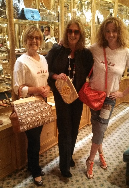The Tory Burch Flagship Store in Beverly Hills, debbie zipp, cheryl benton, roni jenkins, the three tomatoes