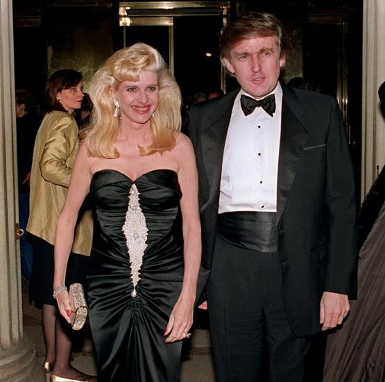 Invana and Donald Trump