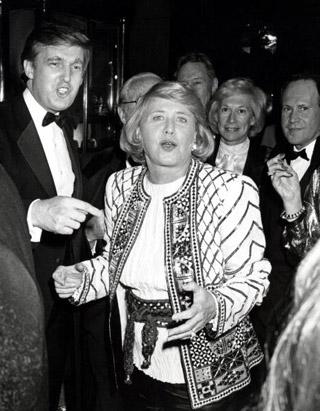 Liz Smith with Donald Trump, The Three Tomatoes