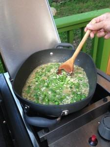 summer pea risotta