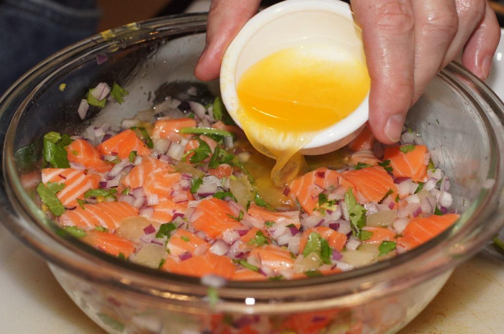 salmon ceviche, when raw fish really isn't, arthur schwartz, the three tomatoes