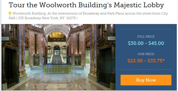 woolworth building tours
