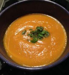 Thai Style Sweet Potato Soup, recipes, the three tomatoes