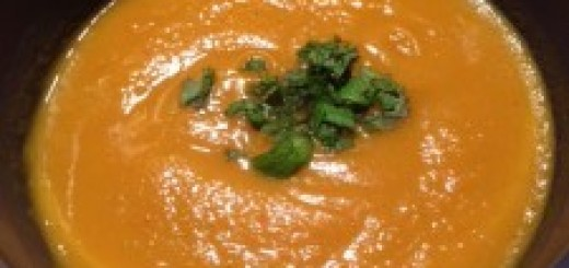 Thai Style Sweet Potato Soup, recipes, the three tomatoes
