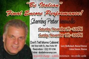 be italian, Peter Ianniello, the three tomatoes
