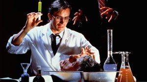 8 TOP HORROR FLICKS  ON NETFLIX  , reanimator, the three tomatoes