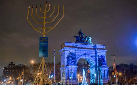 NYC Life: Giant Menorahs, Luminaries, Latkes, and Dickens