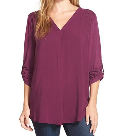 Casual Holiday Dressing, chiffon top purple