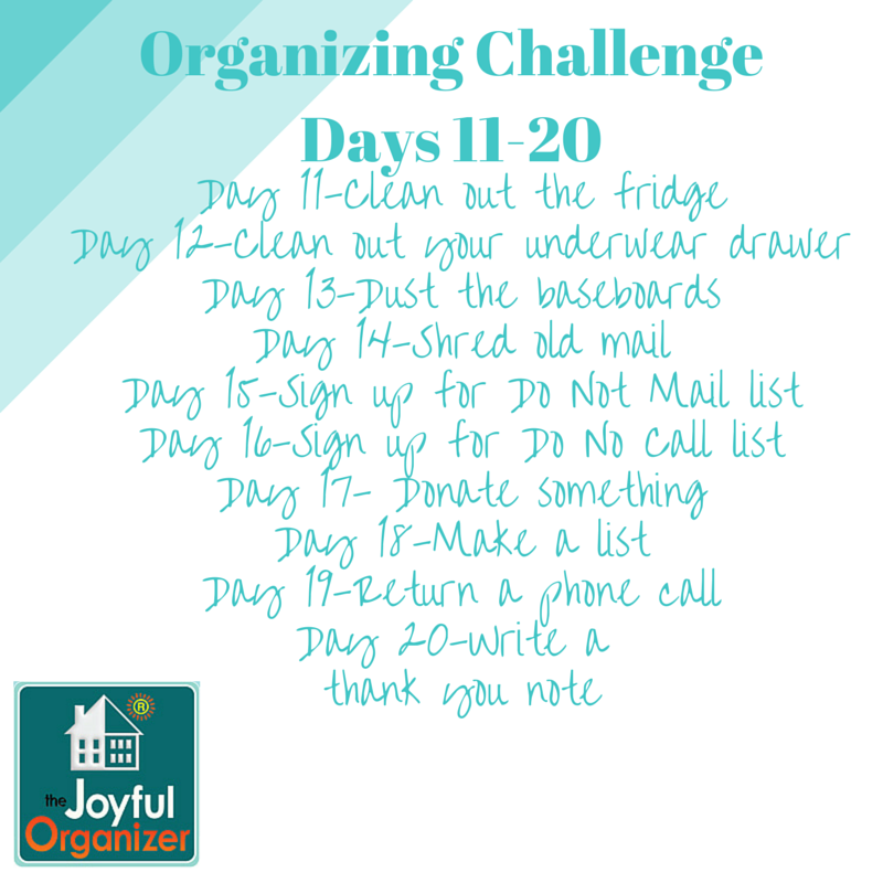 New Year's Organizing Challenge-Part 2