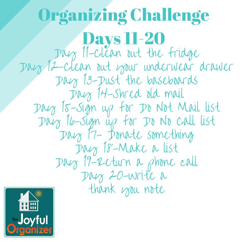 New Year's Organizing Challenge-Part 2