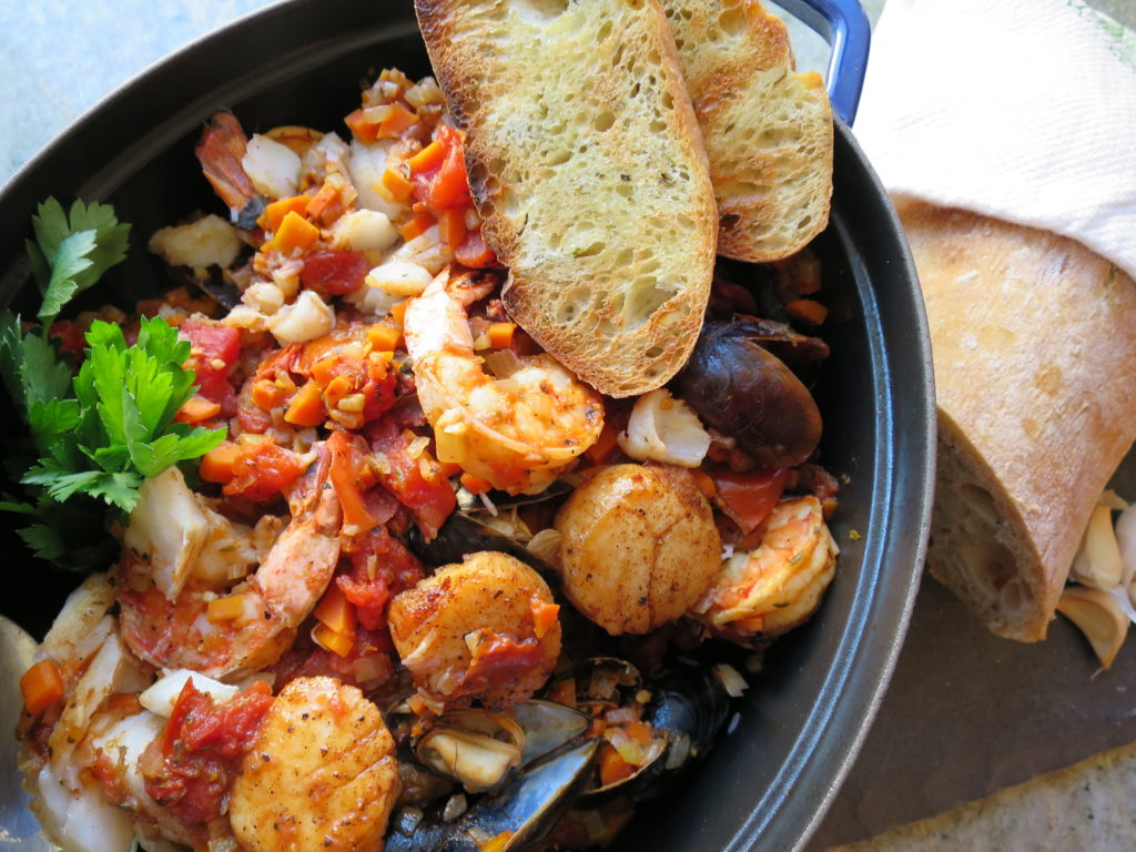 Recipes: Cioppino – Italian Seafood Stew  , the three tomatoes