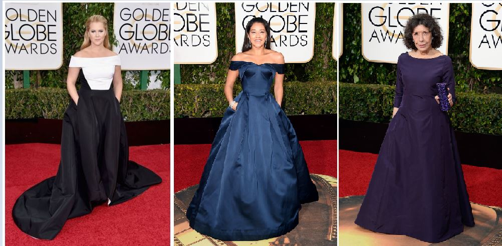 The Golden Globes Red Carpet Rocked!, pockets and satin