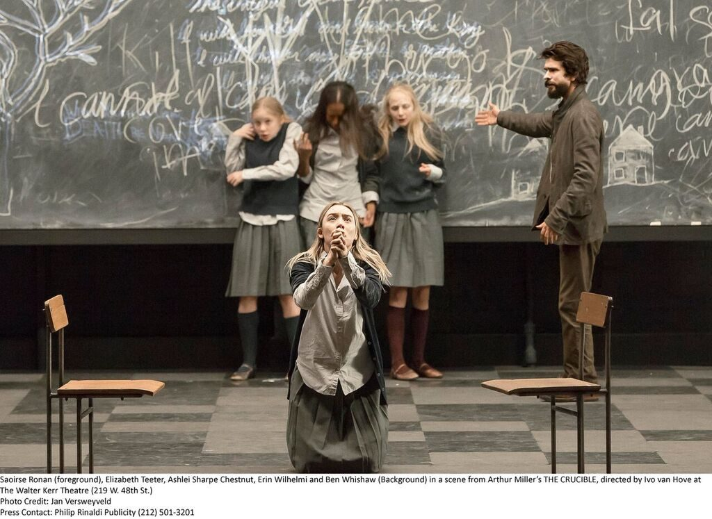 an analysis of the hysteria in the crucible a play by arthur miller The title compares the cartoon to the literal witch hunt presented in are arthur miller's, the crucible the theme of hysteria  play, the crucible, arthur miller.