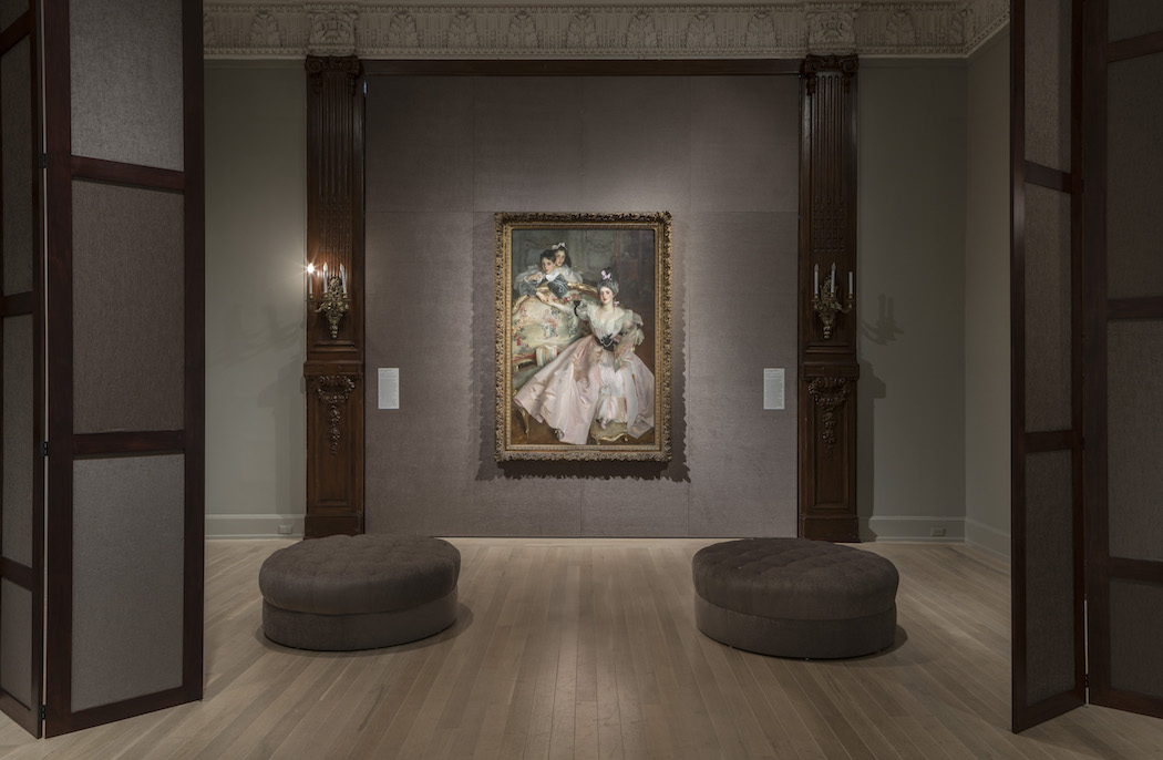 Exhibition view of John Singer Sargent's Mrs. Carl Meyer and Her Children at The Jewish Museum, NY
