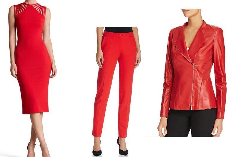 red dress pants jacket