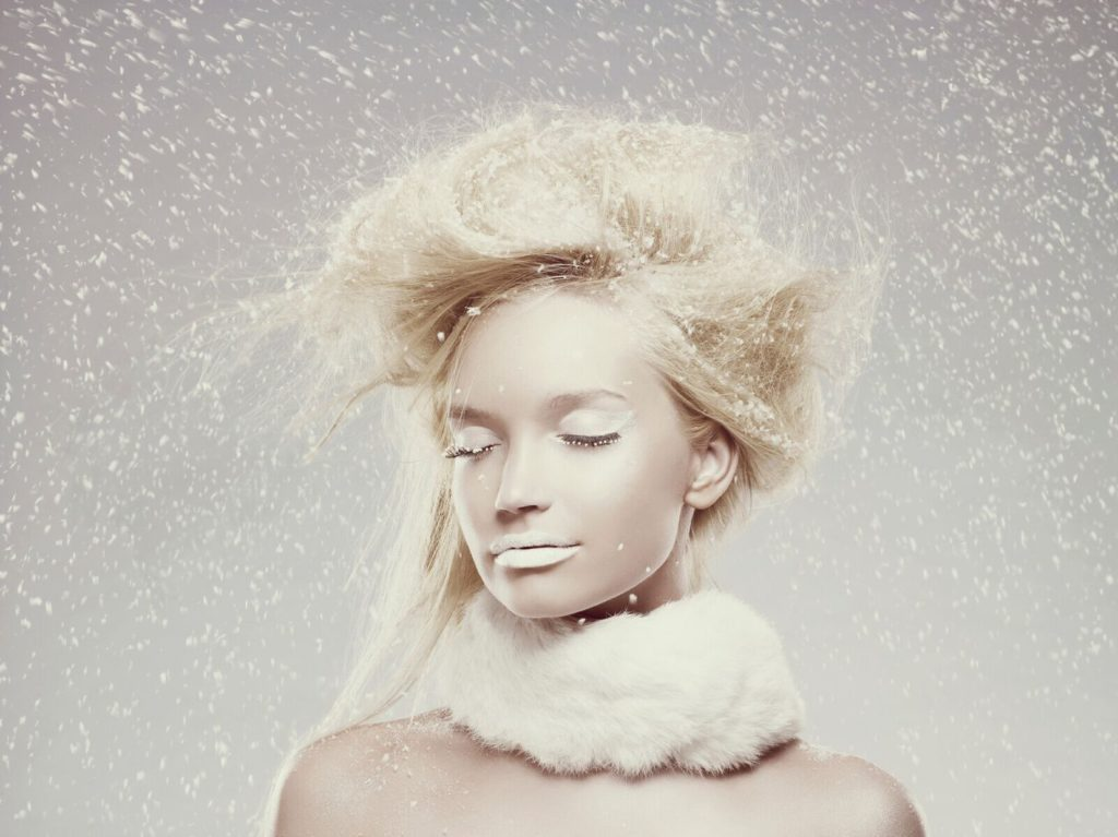 Woman in snow photo