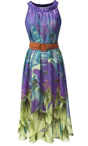be7b7d099250 Lightweight breezy chiffon maxi dress designed in solid to floral prints.  Strappy halter neck style