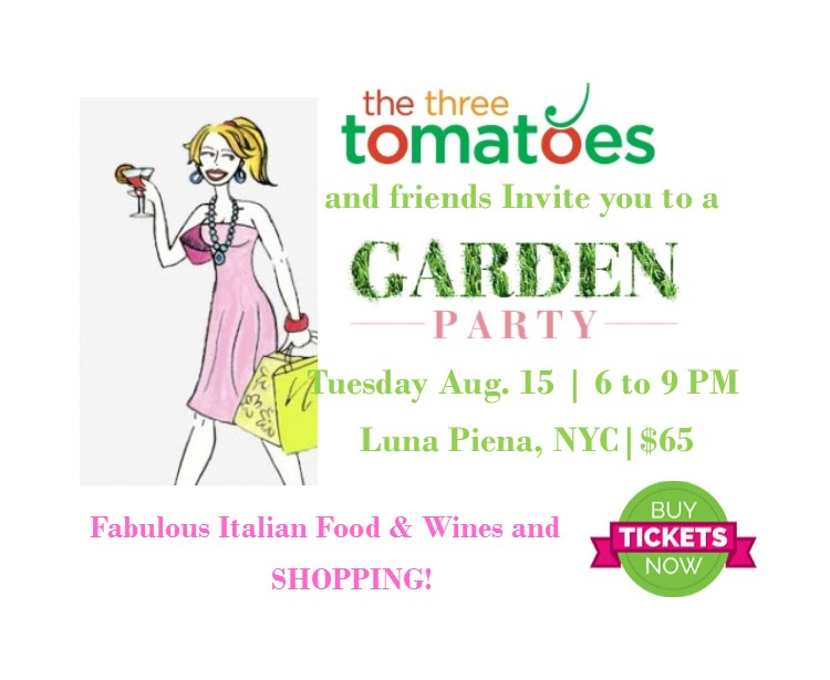 the three tomatoes summer garden party