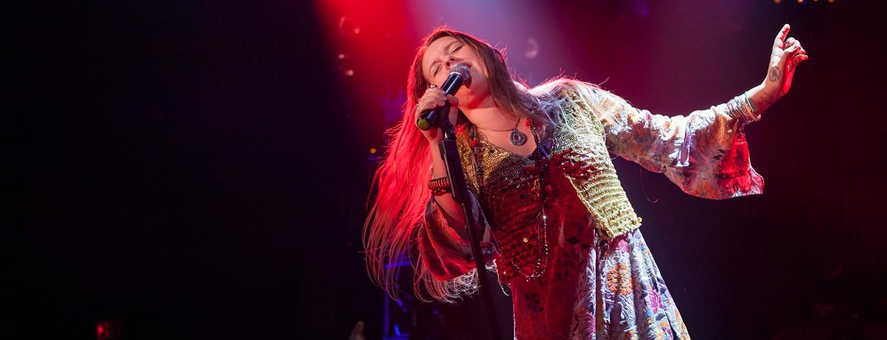 Kelly McIntyre as Janis Joplin. Photo by Randy Johnson